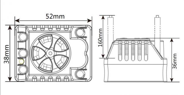 ZTW Beast SL80A SCT Sensorless ESC za 1/10 modele - 4108021